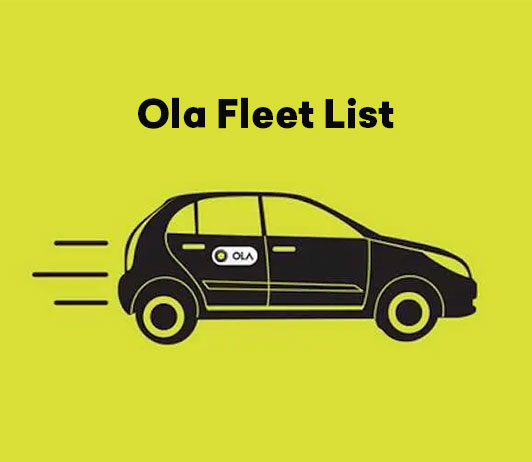 Ola Fleet List – Everything You Should Know