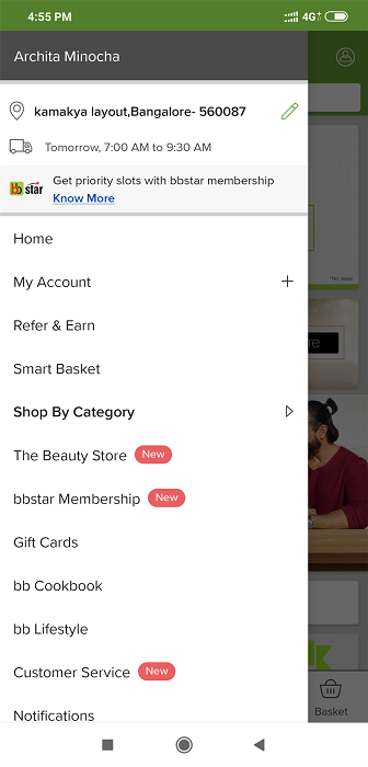 Select the 'Refer & Earn' option.