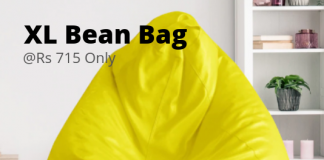 Bean Bag in yellow color