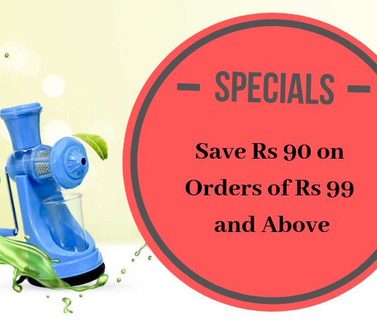Crazy Deal Save Rs 90 on Orders of Rs 99 and Above