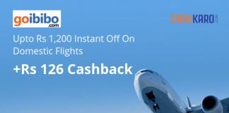Goibibo Flights offer