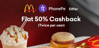 McDonalds PhonePe Offer