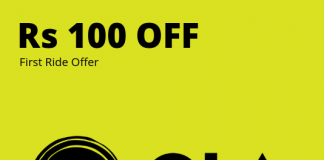 OLA first offer code