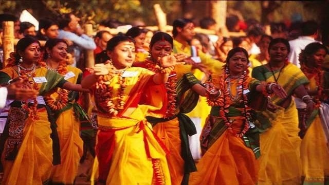Shantiniketan Holi