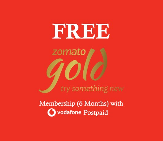 Zomato Free Gold Membership 6 Months with Vodafone Postpaid