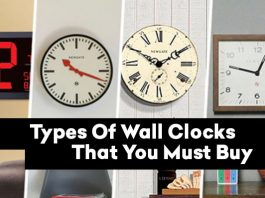 10 Types Of Wall Clocks That You Must Buy
