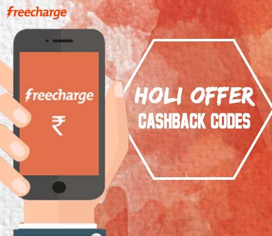 freecharge holi cashback codes