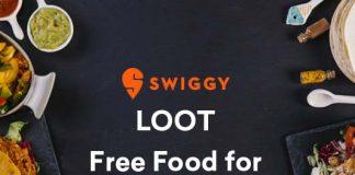 swiggy loot free food upto rs 100