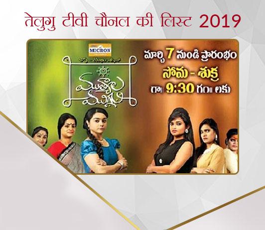 Telugu TV Channel List 2019 in Hindi तेलुगु टीवी चैनल की लिस्ट 2019: भारत के सभी तेलुगु चैनल नंबर