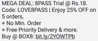 Box8 8 Meal Pass Trial - Offer Details