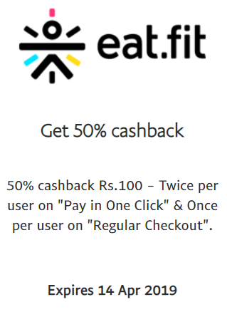 Curefit PayPal Offer - Terms and Conditions