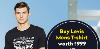 Levis Men's Printed Regular Fit T-Shirt