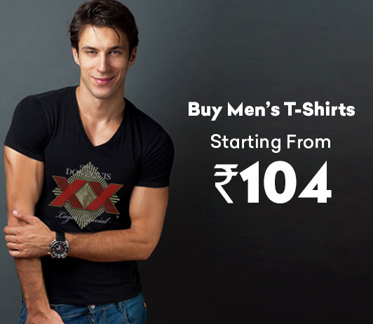 Buy Men's T-Shirts Starting From Rs.104