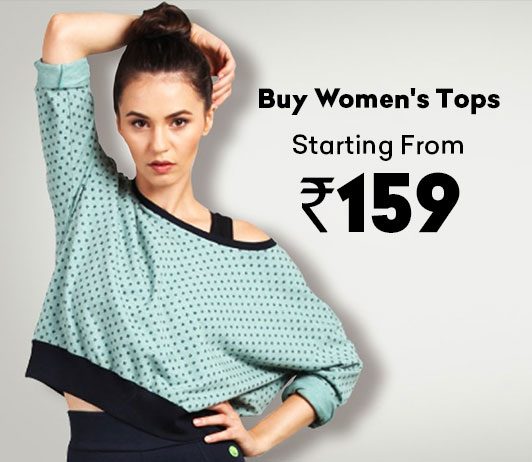 Buy Women's Tops Starting At Rs.159