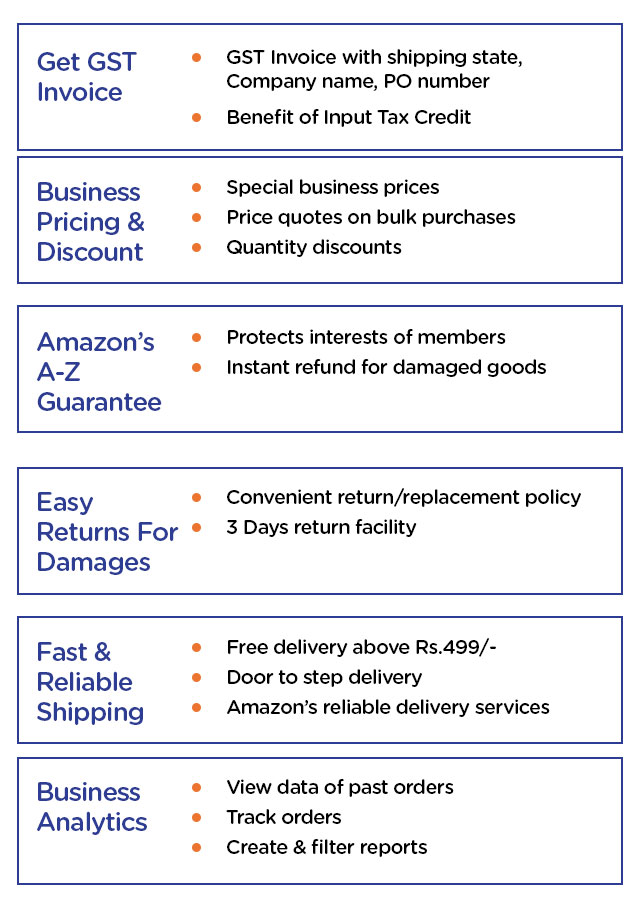 Benefits of Amazon Business