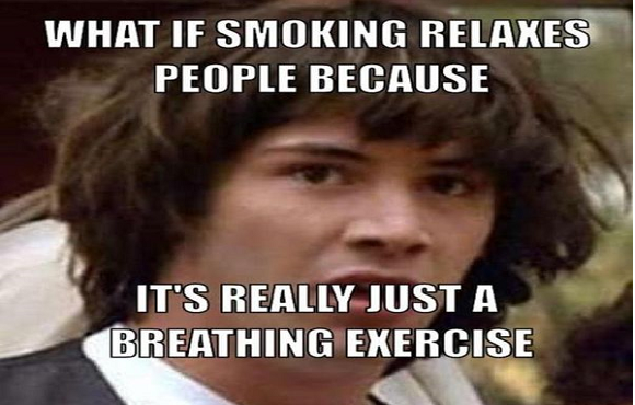 quit smoking meme