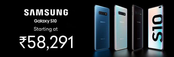 Samsung Galaxy S10 Starting at Rs.58,291