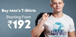 Buy Men's T-Shirts Starting At Rs.192