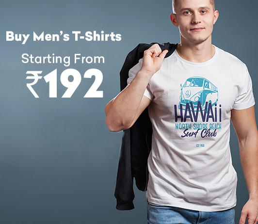 Buy Men's T-Shirts Starting At Rs.192