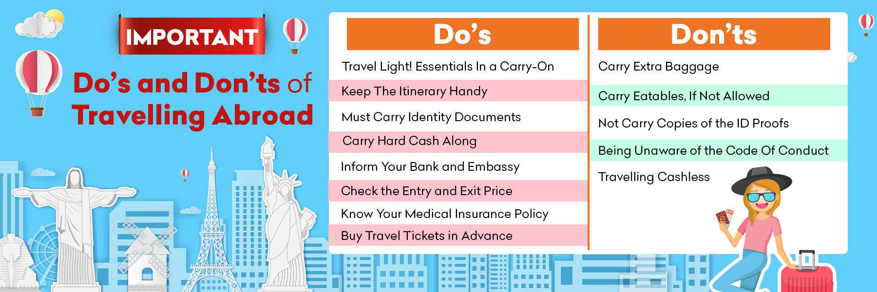 Important Do's and Don'ts of Travelling Abroad