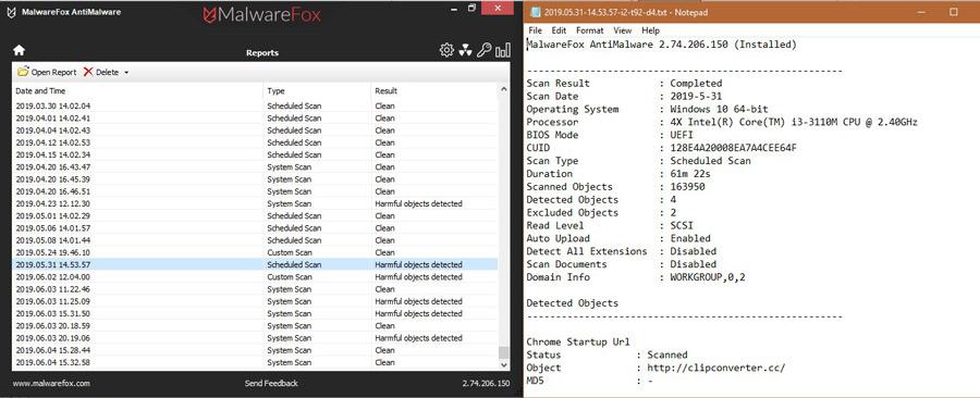 MalwareFox-Reports