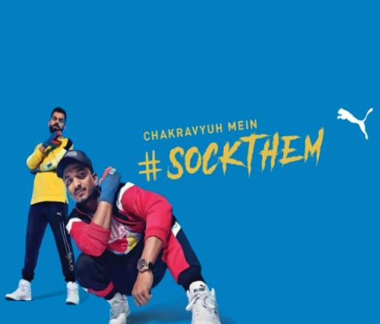 Virat Kohli and Divine in Puma's Sockthem Campaign