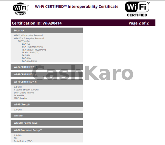 Wifi Alliance Certification
