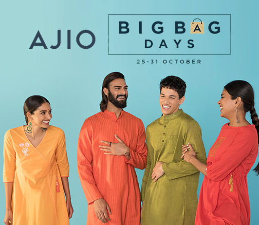 Fill up your bas with Big Bag Days sale on Ajio