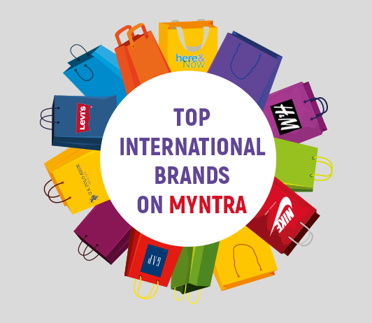 Go global with top international brands on Myntra