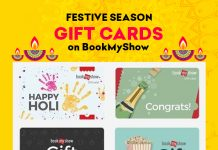 Festive Season Gift Cards on Bookmyshow