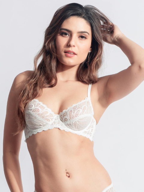 Seamed Balconette Bra Transparent Back Bra