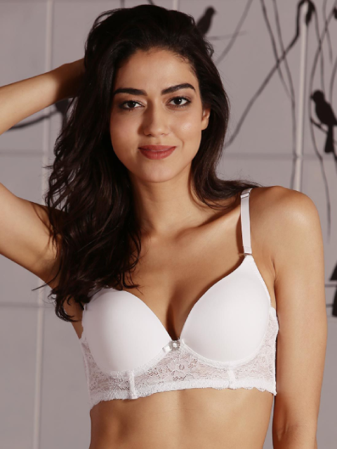 Winged Longline Transparent Pushup Bra