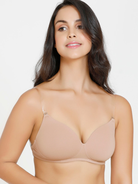 Wire-free Bra Bra With Transparent Straps