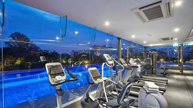 Gym at Hotel Boss in Singapore