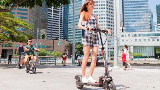 Ride Scooter at Singapore