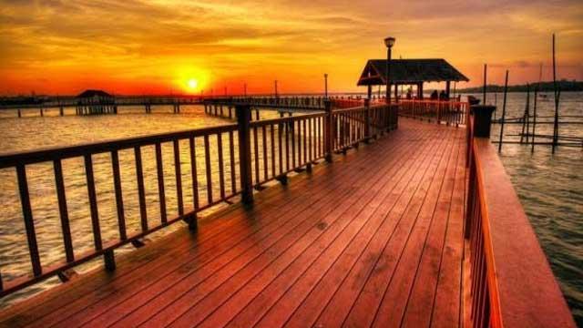 Sunset Over Changi Boardwalk