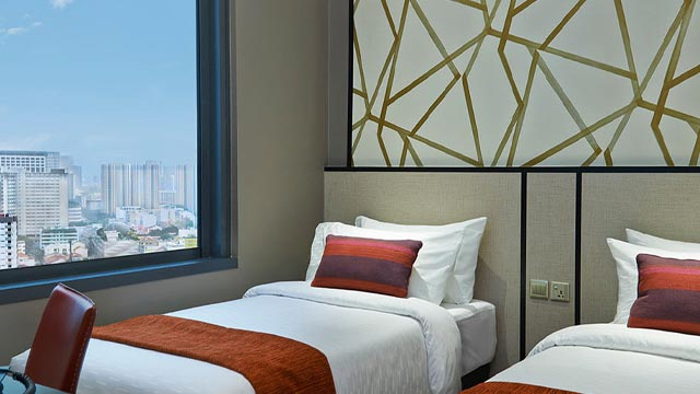 superior Twin rooms with city view