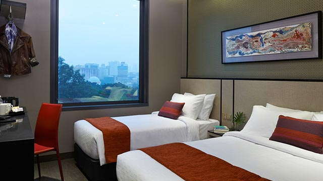 Triple rooms at Boss Singapore