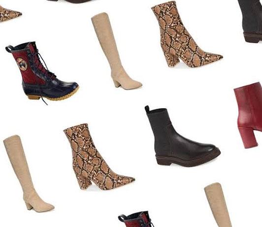 Women boot types on Ajio