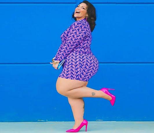 women's plus size purple top on myntra