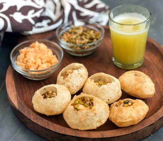 Hygienic Restaurants that deliver Pani Puri and Chaat