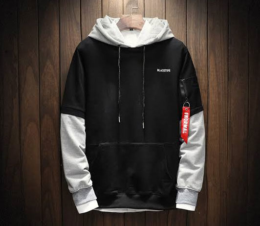 men's black hoodie on club factory