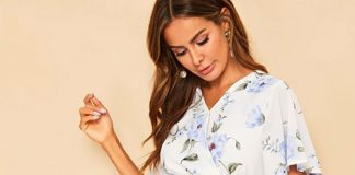 women's floral tops on ajio