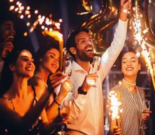 New year parties in Delhi on BMS