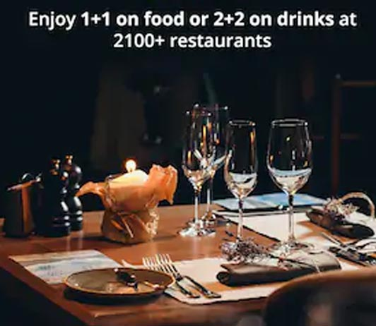 zomato gold 2+2 on drinks in delhi