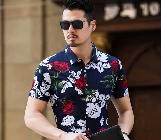 Men floral shirts on club factory