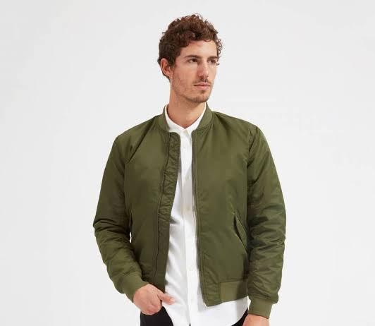 olive men's bomber jacket on amazon