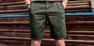 men's olive shorts on ajio