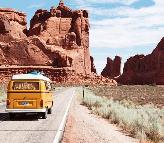 Road trip via Booking.com