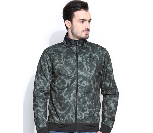 grey camouflage jakcet on myntra